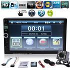 """7"""" 2 DIN Bluetooth voiture lecteur MP3 MP5 Stéréo Radio Video USB AUX FM +Caméra"""