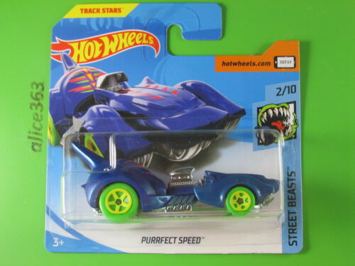 38-NUOVO IN SCATOLA ORIGINALE HOT WHEELS 2018-Purrfect Speed-Street Beasts