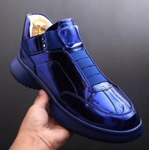 alto verniciata H191 alte tacco Sneakers da pelle con uomo ginnastica in moda da Scarpe wMCqFyYtq