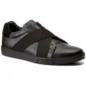Calvin-Klein-BAKU-F0931-scarpe-uomo-Black-Nero-Brsh-Leat-Pelle-Originali-41-EU