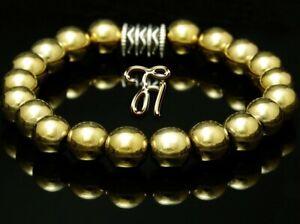 Haematit-Hematit-Armband-Bracelet-Perlenarmband-Buddha-8mm-gold