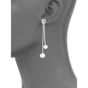 CZ by Kenneth Jay Lane Halo Solitaire Rhodium Plated Necklace NWT DAZZLING