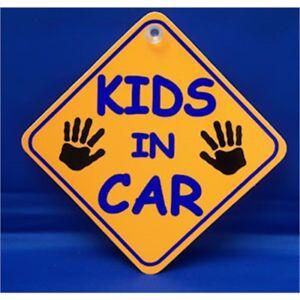Enfants dans voiture Diamond Cintre Signe-Château de promotions Ventouse Orange Dh13