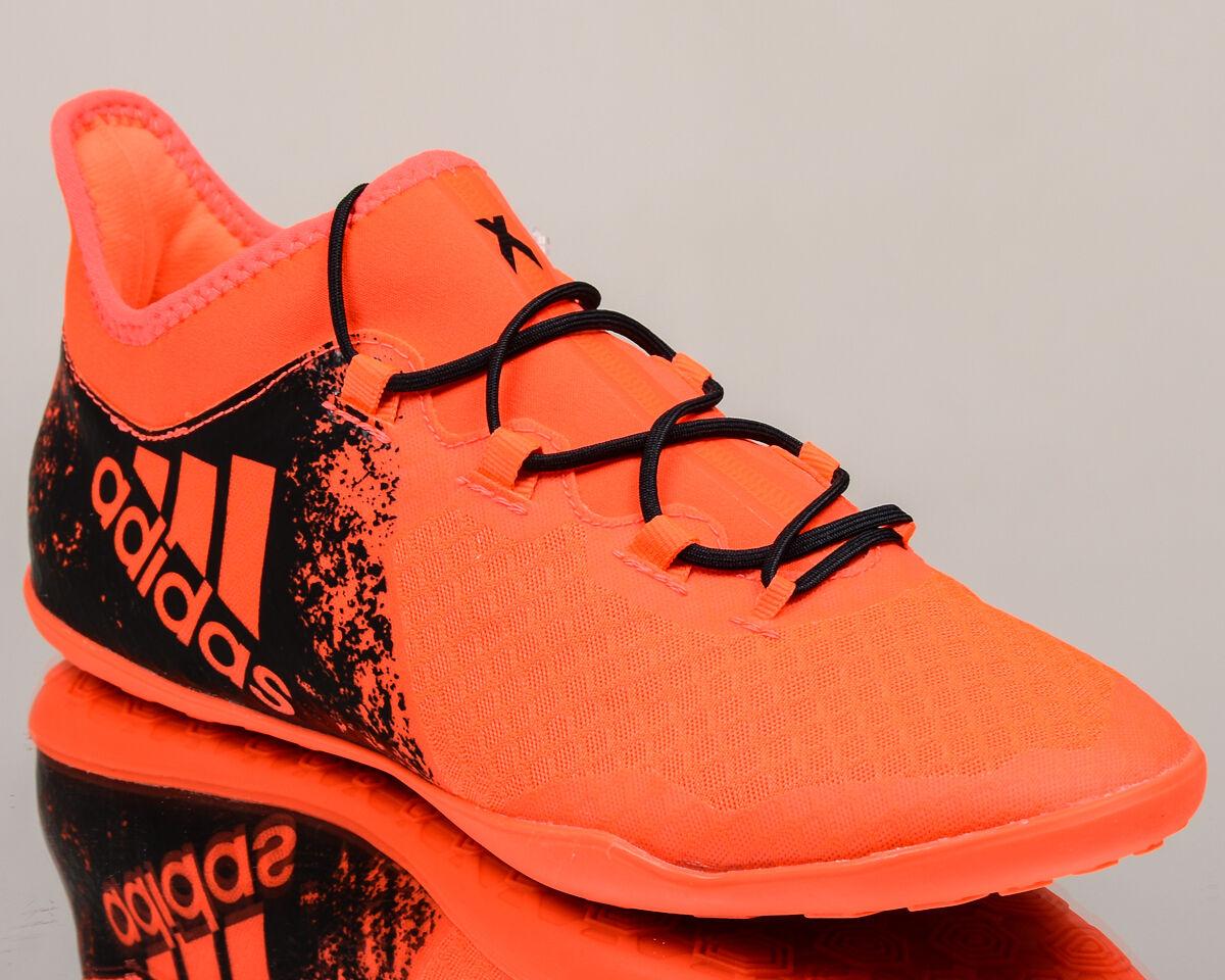 adidas X 16.2 Court men soccer shoes football NEW soar red black BB4157