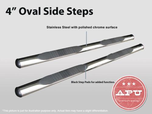"APU 07-14 Toyota FJ Cruiser 4/"" Stainless Oval Side Steps Bars Running Boards"
