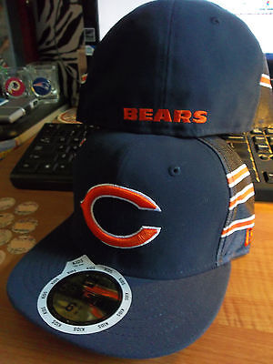 Chicago Bears Kid's NFL Jersey Stripe New Era Hat Cap FlatBill Brim Fitted Youth