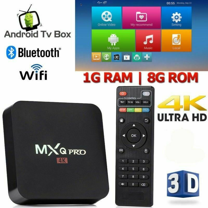 2019 MXQ PRO 4K Smart TV BOX Android 7.1 4K HD WiFi Quad Core 3D Media Player US Featured
