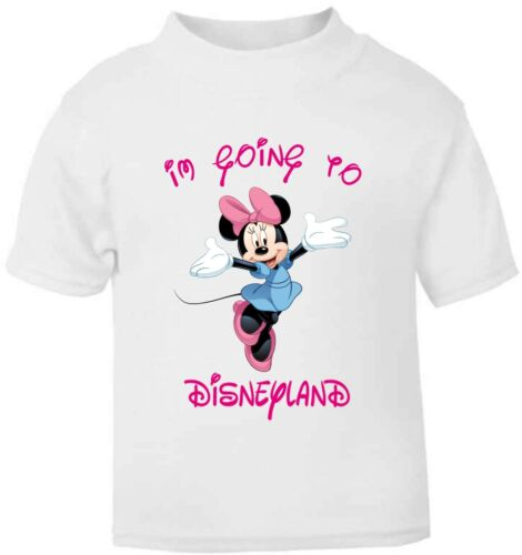 Personalised Kids I/'m going to Disneyland Childrens T-Shirt Minnie Mouse