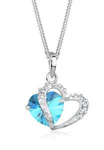 Herz-Halskette-Rosa-925er-Silber-Swarovski-Kristalle-Echtschmuck-Elli