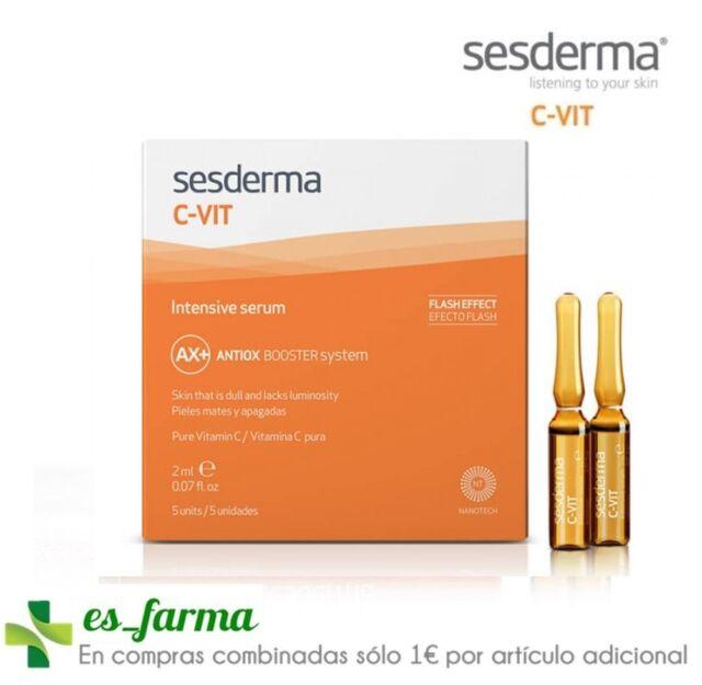 Sesderma C-Vit Intensive Sérum , 5 Ampoules Effet Flash 2 ML 12% Vitamine C Pur