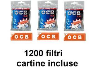 1200-FILTRI-PER-SIGARETTE-OCB-SLIM-6mm-CON-CARTINA-ORANGE-FILTRO-LISCIO-tabacco