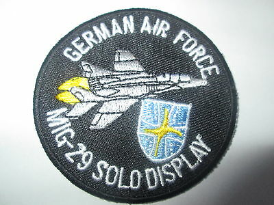 Patch R11 Luftwaffe `MIG-29 FIGHTING FULCRUM` Aircraft Cloth Badge