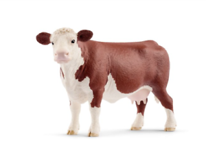 Details About Schleich Toy Farm Animal Plastic Hereford Cow