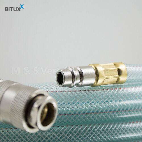 """BITUXX 50m PVC Druckluftschlauch 1//4/"""" mit DN 7,2 Schnellkupplungen Kompressoren"""