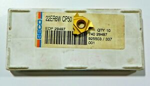 5-PIECES-SECO-22ER-6W-CP50-CARBIDE-INSERTS-H498