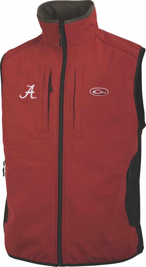 Drake Waterfowl University Of Alabama Windproof Tech Vest SD-ALA-1602-CRM DW1602