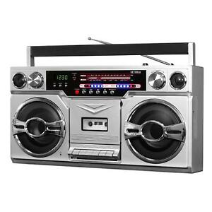 Victrola-Retro-Style-Boombox-with-Cassette-Player-AM-FM-Radio-amp-Bluetooth