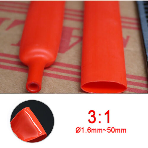 3:1 Adhesive Glue Lined Heat Shrink Tube Car Cable Electrical Wiring Sleeve