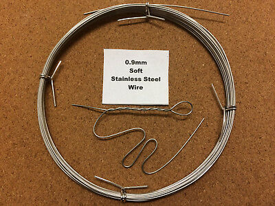 0.9mm x 10m 20 SWG SOFT Annealed Stainless Steel Wire Locking Safety Sculpting