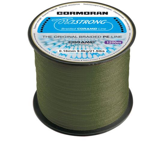 Cormoran die neue CORASTRONG 1200m Spule Geflochtene CORAMID Schnur 3,75€//100m