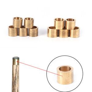 5Xbilliards-snooker-copper-ferrule-brass-snooker-pool-cue-ferrules-cue-repairLD