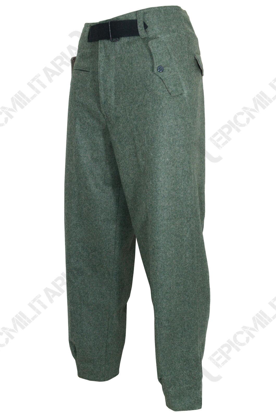 Armée allemande panzer Pantalons FIELD grey LAINE - Toutes sizes - WW2 REPRO