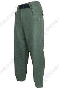 German Elite Black Panzer Trousers Wool Army WW2 Repro Uniform Pants All Sizes