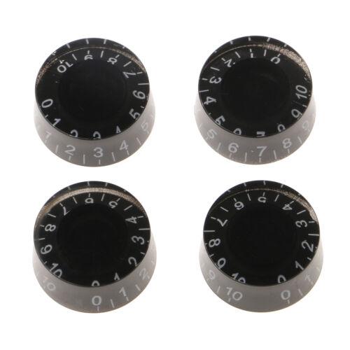 6mm Schwarz Kunststoff Drehzahlregler für LP Les Paul E gitarre 4 stücke