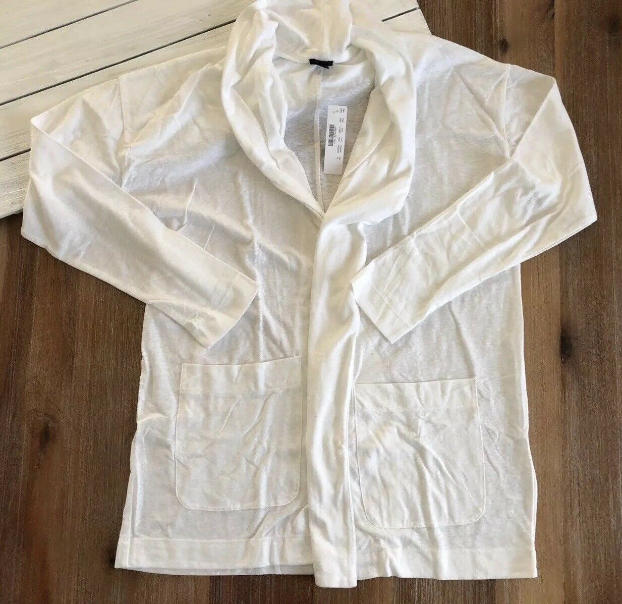 NWT J Crew Women's Slub Cotton Cardigan in White - M, XL