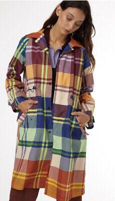Knowledgeable [bnwt] Gorman Tartan Trip Trench Coat Jacket Size Xs