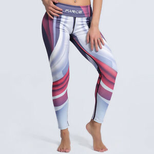5824cafea8cad Image is loading Womens-yoga-gym-leggings-Patterned -High-waisted-compression-