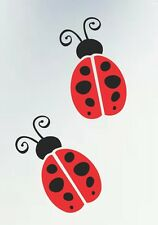 DARLING LADYBUGS DECALS / STICKERS FOR YOUR WALL, WINDOW OR CAR