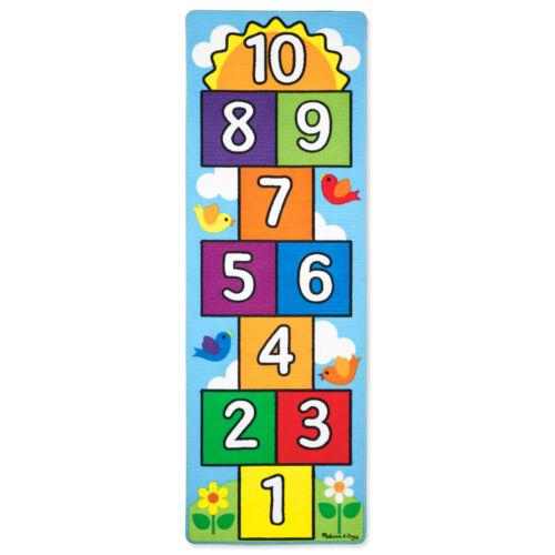 Spielteppich Hüpfkästchen Hüpfteppich Zahlen Teppich Hüpfspiel Kinderteppich