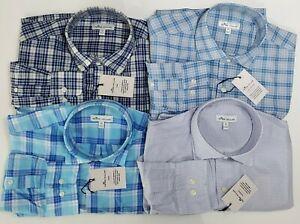 NWT-Lot-of-4-Medium-PETER-MILLAR-2020-Long-Sleeve-Button-Down-Shirts-Mens-New