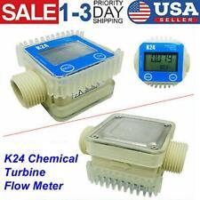 Pro K24 Lcd Turbine Digital Diesel Fuel Flow Meter For Chemical Water Industrial