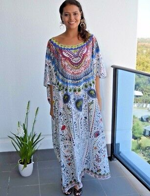 Free size Silk Blend Box Kaftan with Heavily Embellishment