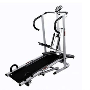 Lifeline 4 In 1 Manual Treadmill Jogger,Twister, Stepper With Fitted Push Up Bar