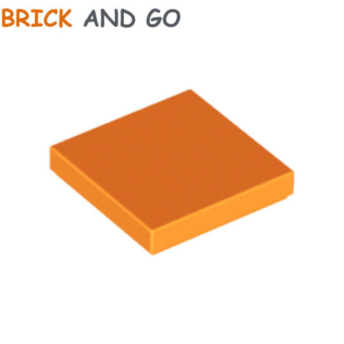 4 x lego 3068 Plate Smooth Bright Orange Flat Tile 2x2 with Groove New New