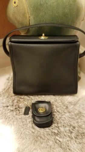 2 Lot Rare COACH Geometric Leather Turnlock Bag +