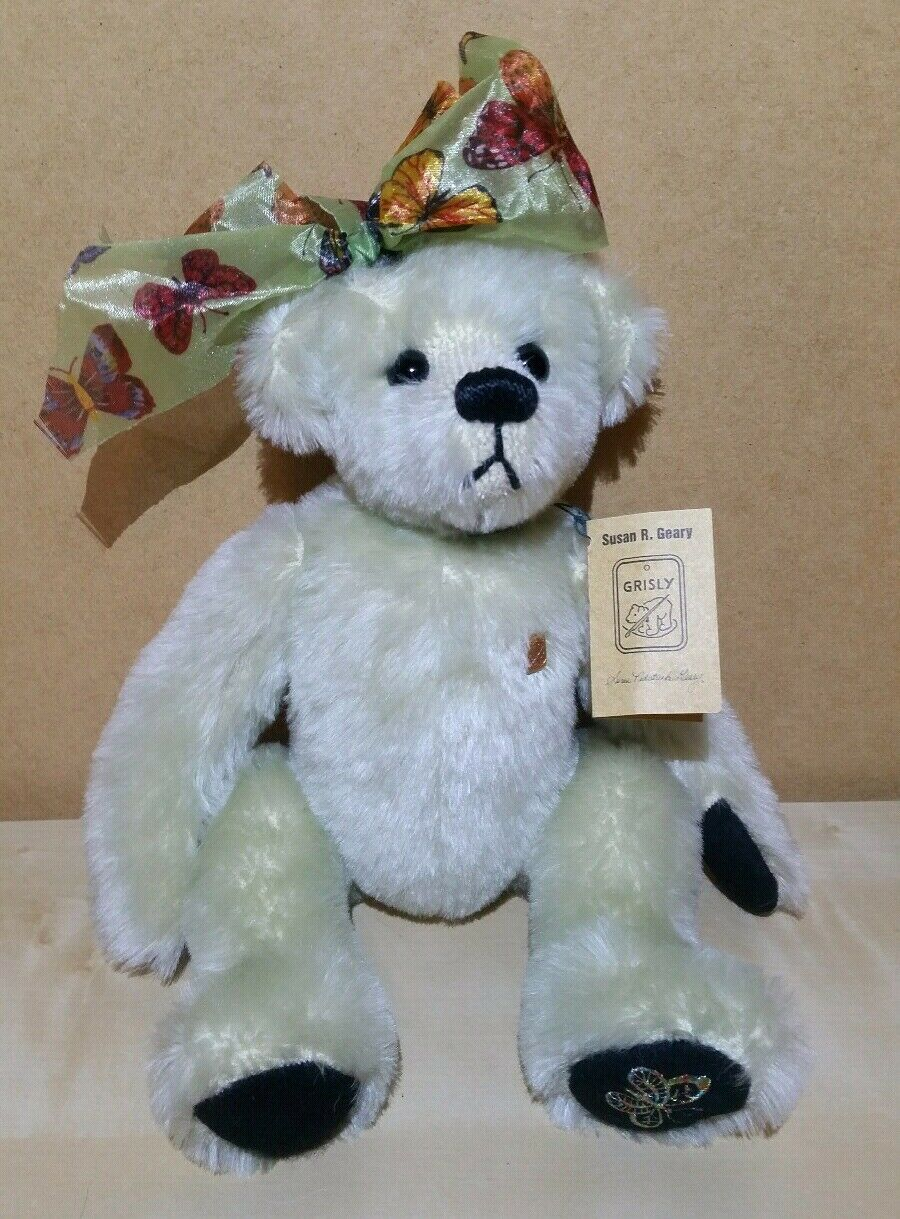 GERMAN MADE MOHAIR TEDDY BEAR BY grauLY FULLY JOINTED FRUHLING ARTIST TEDDY