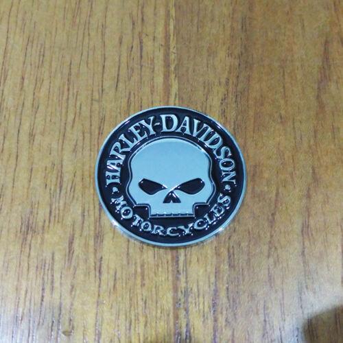 Medallion For Harley Davidson Tank  Body Trunk 3D Willie G Skull Chrome Emblem