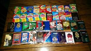 Awesome-Lot-of-100-Unopened-Old-Vintage-Baseball-Cards-in-Wax-Cello-Rack-Packs