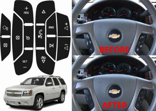 Chevrolet GM Steering Wheel Button Decals Enclave Silverado 07-14