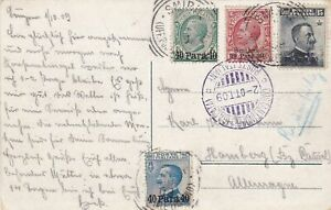 Italy-to-Germany-1909-registerd-Costantinople-Galata