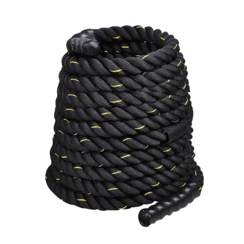"1.5"" 50FT Poly Dacron Battle Rope Exercise Workout Strength Training Undulation"