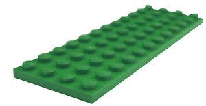 Lego-2-Stueck-Platte-4x12-in-gruen-3029-Neu-gruene-Platten-Basics-Bauplatten-City