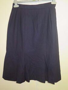 2c6a393ab5 Genuine Burberry Navy Blue A-Line Wool Skirt Size S UK 8 Euro 36 | eBay