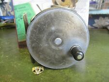 Vintage 1928 RHW Hardy 4 1/4 Inch Wide Perfect Salmon Fly Reel with Line Guard