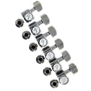 genuine fender staggered height locking guitar tuning machines chrome ebay. Black Bedroom Furniture Sets. Home Design Ideas