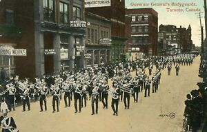 Carte-CANADA-TORENTO-Governor-General-039-s-Bodyguards-Defile-soldats-musiciens